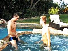 басейн, анално, гей, кур