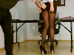 exposed, voyeur, upskirts, secretary, pantyhose