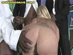 blonde, milf, knows, big cock, interracial, blonde milf, blowjob, group sex, group, amateur