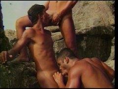 latina, gay, junge, strand, anal