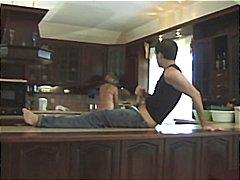 felace, anál, dva na jednoho, kuchyně