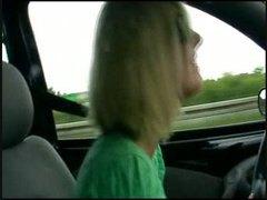 kereta, amatur, hisap konek, rambut blonde