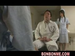трио, медицински сестри, групов секс, доктор, азиатки