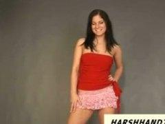 ungarisch, teaser, model, lustig, euro, handjob, strip, pov