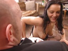 Liza Del Sierra, maid, sierra, anal, double penetration, french maid, fucked, group, french, facials