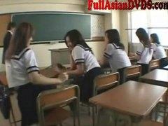 игра, азиатки, учител, училище, момичета, японки