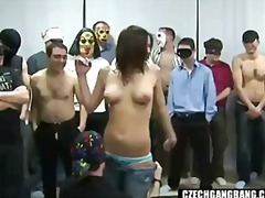 чехкини, парти, шибане, домашно видео, голям бюст