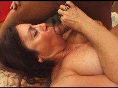 zralý ženský, velký prsa, prsa