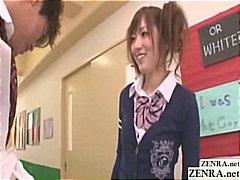 японки, училище, жена гол мъж, униформа, чекия
