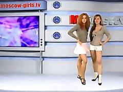 момичета, къса пола, рускини