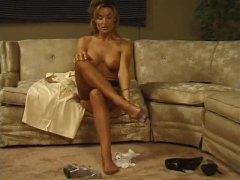 porno softcore, jarak dekat, tumit tinggi, fetish kaki, mengusik, seorang, stokin, erotik