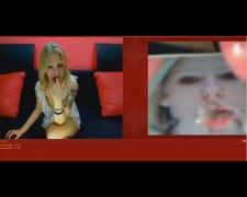 sperma v obličeji, vyvrcholení, webové kamery