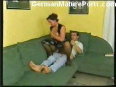 saksalainen, teini, siemensyöksy, suuri perä, kundi, isoäiti, kypsä, suihinotto
