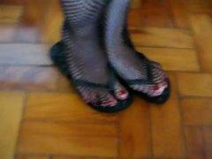събличане, фетиш, чорапи, фетиш с крака