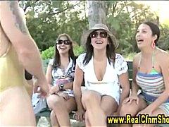 групов секс, сред природата, момичета, жена гол мъж