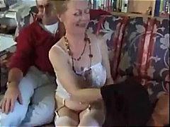 космати, съпруга, естествени цици, двойка, чорапи, свирки