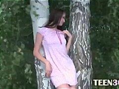 мастурбация, красиви, тийнейджъри, рускини