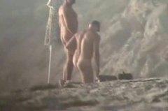 конте, плаж, мъж, голи