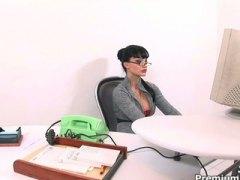 Алита Оушън, голям бюст, офис, големи цици, анално, фетиш