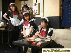 японки, униформа, прислужнички, брюнетки, азиатки, фетиш