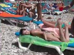 брюнетки, хотел, тийнейджъри, плаж, празнене