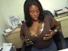 boulot, secrétaire, branlette espagnole, bureaux, gros culs, ébène, anal, réalité, pov, avaler