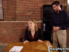 Лили Лабо, офис, яко ебане, порно звезди, шеф, блондинки