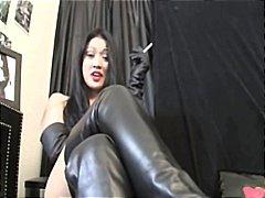 pov, støvler, kvinder, kvindelig dominans