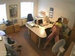 caught, security, voyeur, on, hidden cams, fucking, camera, secretary, big boobs