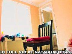 Natasha Nice, masturbace, velký prsa, prsatý holky, sólo, domácí videa, prsty, kočky