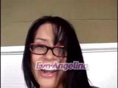 Ева Анджелина, брюнетки, дълбоко в гърлото, кожа, сливи