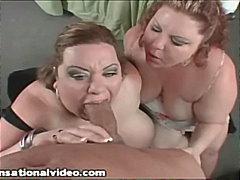 дебели, едри жени, трио, гледна точка, голям кур, брюнетки