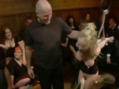 Madison Scott, nastrano, šopanje po guzi, fetiš, grubo, javno, žurka, rob, vezivanje, sado-mazo