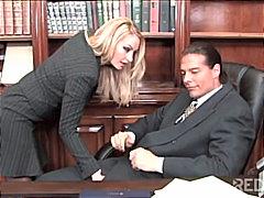 офис, свирки, блондинки, двойка, чорапи, гълтане
