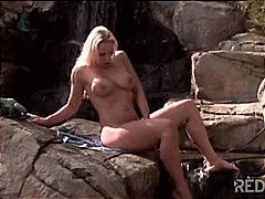порно звезди, мастурбация, блондинки, сред природата