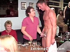 двойка, жена гол мъж, парти, свирки, блондинки