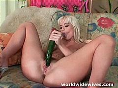 блондинки, играчка, мастурбация