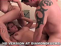 жена-жена-мъж, празнене, порно звезди, свирки, блондинки