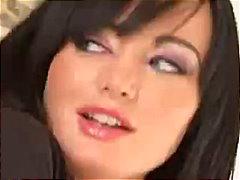 Melissa Lauren, ruskeaverikkö, tiukka, takaapäin, anaali, käsityö, sukat, beibi, tissit, oraali