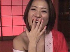азиатки, японки, изпразване на лицето