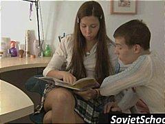 училище, тийнейджъри, легло, рускини