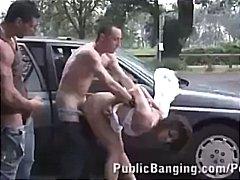 hardcore, vychrtlý, grupáč, dva na jednoho, trojka, brunetky, anál, nahota na veřejnosti, venku