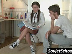 teini, venäläinen, amatööri, pehmoporno, koulu, univormu