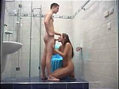 бивши, душ, баня, брюнетки, свирки