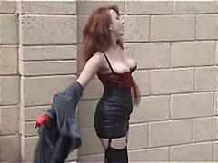 nilon, ibu seksi, rambut merah, matang, orang british