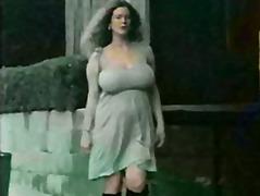 vintage, große brüste