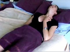 amatérská videa, brunetky, masturbace