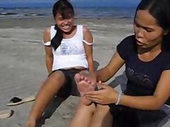 азиатки, тийнейджъри, фетиш с крака
