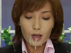 eiaculazione con bersaglio, asiatiche, brunette, bukkake