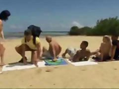 плаж, празнене, групов секс